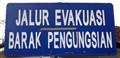 ..evacuation road..