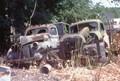Old trucks in Harry Orkin scrapyard of Slatington, PA.
