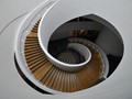 A curving staircase in the Liverpool City Museum .