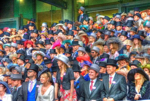 Royal Ascot - anxious crowd