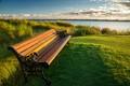bench on florida golf course