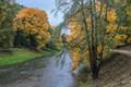 Vilnia River in Autumn, Vilnius