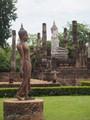 I like this peacefull statue in Sukhothai in Thaïlande.