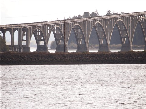 ramp to Coos  Bay Bridge, OR