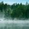 Morning Mist on Swedish Lake