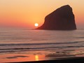 Sunset At Haystack Rock Pacific City Oregon