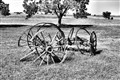 Wagon Wheels in Kansas on the Santa Fe Trail