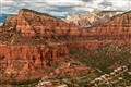 Sedona aerial with Cathedral Rock