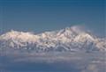 Himalayas flying into Bhutan