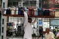 Balancing act at Chatrapati Shivaji Terminus, Mumbai