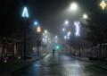 Cycling into the Xmas Fog
