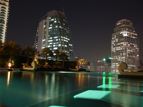 Hotel Swimming Pool Bangkok Night Nacht Centre Point Terminal 21