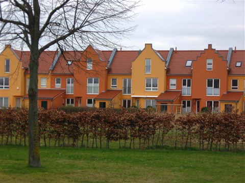 Colourful housing