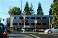 Caltrain line at Mountain View, CA