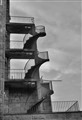 three  spiral Concrete staircase