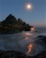 Moon over Seal Rock