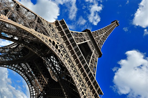 The Leaning Eiffel Tower of Paris