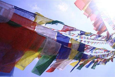 Wind beneath the prayers flags