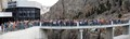 100th anniversary of the Buffalo Bill Dam, near Cody, Wyoming, USA.  This is a crop of a much larger portrait of the dam, visitor center and crowd of 196 people.