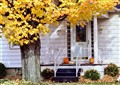 porch and doorway in autumn