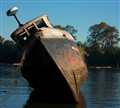 Derelict tugboat