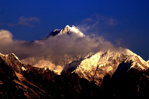First rays of Sun on Mt. Kanchenjangha..