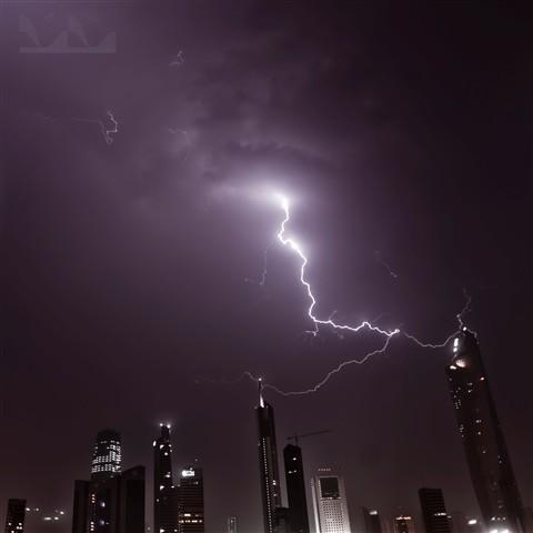 lightning Struck building