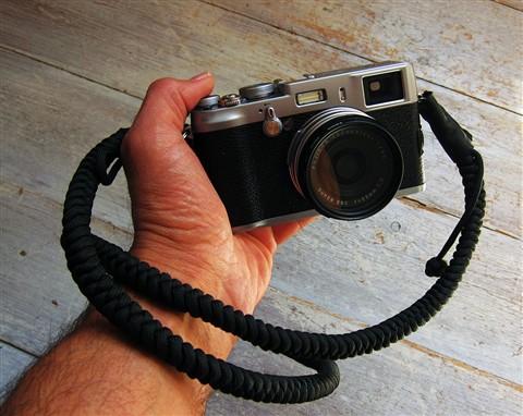 Bespoke Camera Strap In Black With Fuji X100 Opart