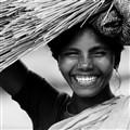 Joyful with her friends - India