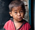 A Nepali kid in Manaslu region