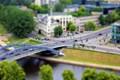 """View from """"Gediminas"""" castle to """"Gediminas"""" bridge"""