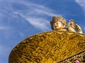 Swayambhunath Golden Statue, Kathmandu