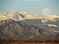 Flatirons Moonset (4.3-150.5mm superzoom)