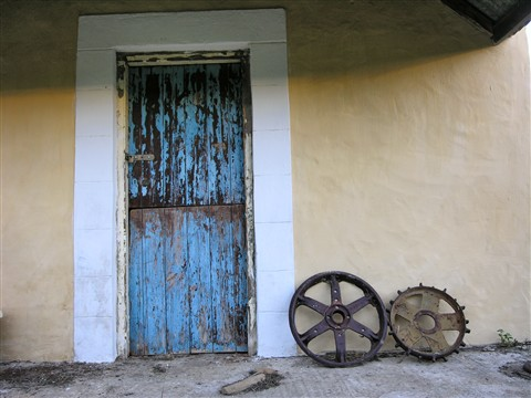 An old dairy door.