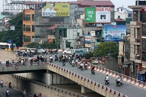 Highway downtown Hanoi, Vietnam