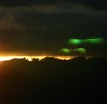 Green Sun Dog Over Hawaii