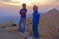 Jordanian boys near the Nature Reserve of Dana