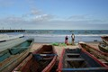 The Gambia / View of the Atlantic Ocean from the Bakau fish market