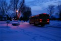 Bus on a snowy morning