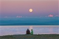 Old Couple and Full Moon