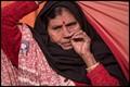Aged migrant female pilgrim