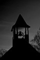 chapel bell at dusk
