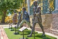 "Sculptures of ""kings"" Cetshwayo, Langalibalele and Sekhukhune and resistance leader, Doman, imprisoned by the British at Cape of Good Hope Castle."