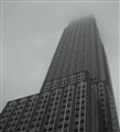 Empire State Building in heavy fog
