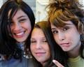 Teens on a train