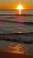 Waves at sunset