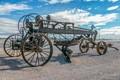 Old Road Grader In California Desert