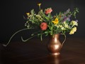 Flowers in a Copper Vase