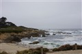 Rocky beach on a stormy day, Big Sur, Californnia
