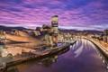 Sun sets in Bilbao, Spain